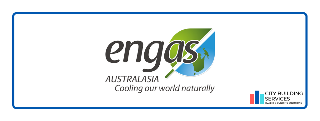 Engas logo. Engas partnership with City Building Services.