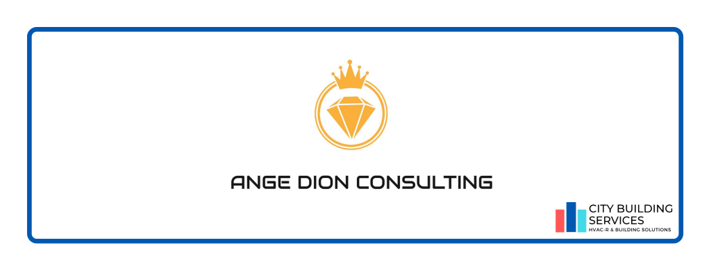 Ange Dion Consulting logo. Ange Dion Consulting workplace heath & safety partnership with City Building Services.